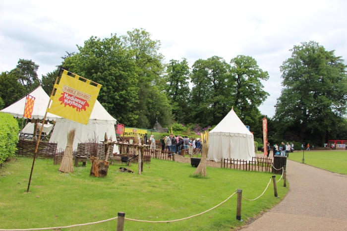 Medieval scenes at Warwick Castle